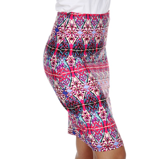 Bold Printed Pencil Skirt