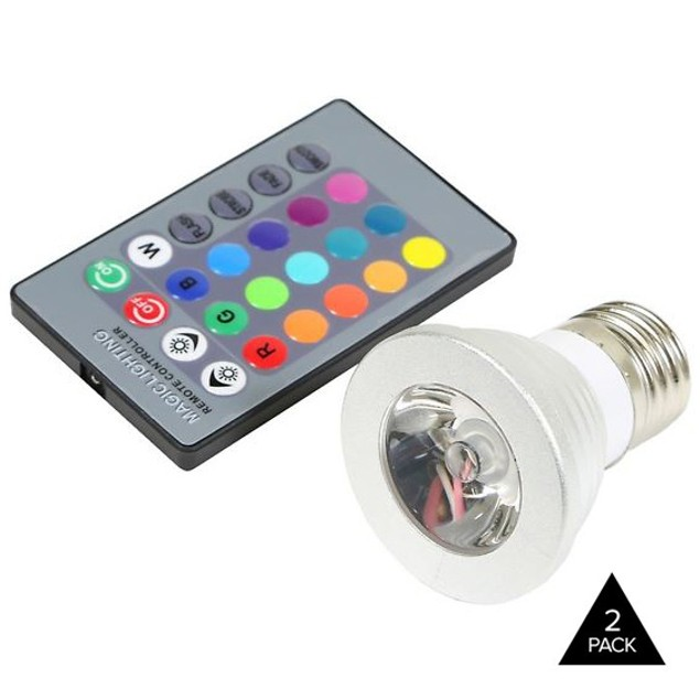 2-Pack Color-Changing LED Light Bulbs