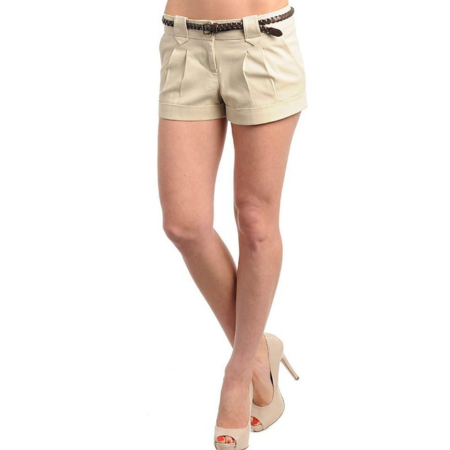 TAN SHORTS WITH BELT NEW AVAILABLE IN S,M,L
