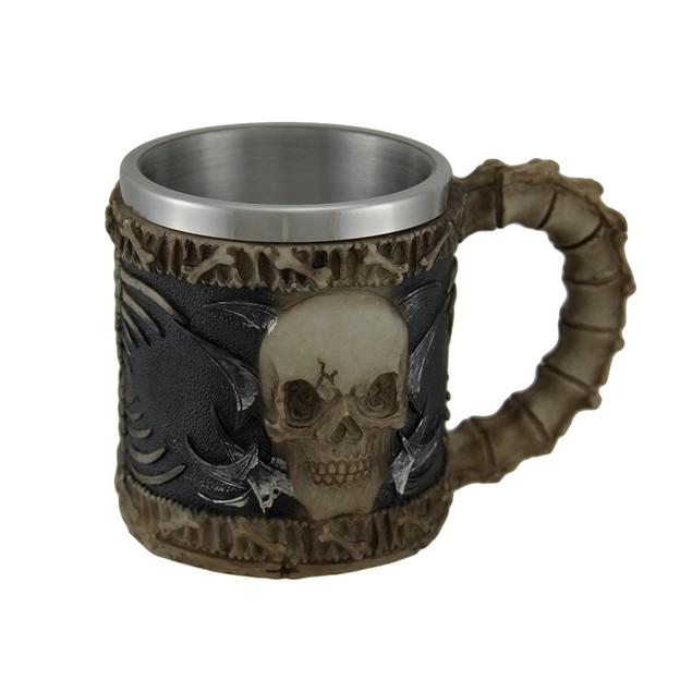 Bone Chilling Stainless Steel Lined Skull Mug Mugs