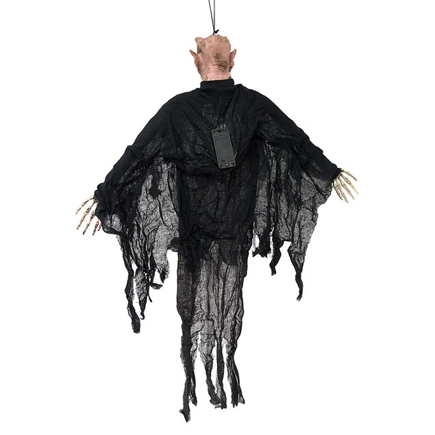 Flying Warlock Ghoul With Light Up Eyes And Sound Halloween Yard Art