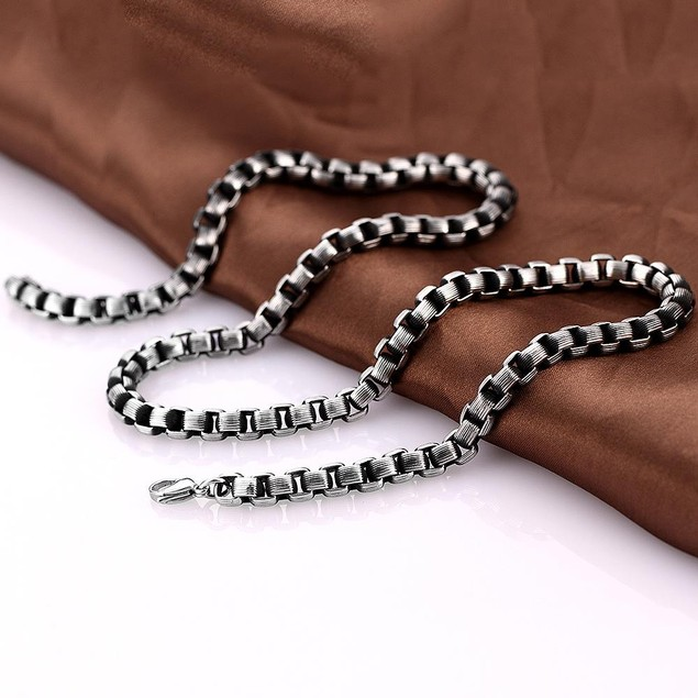 Alpha Steel Intertwined Stainless Steel Necklace