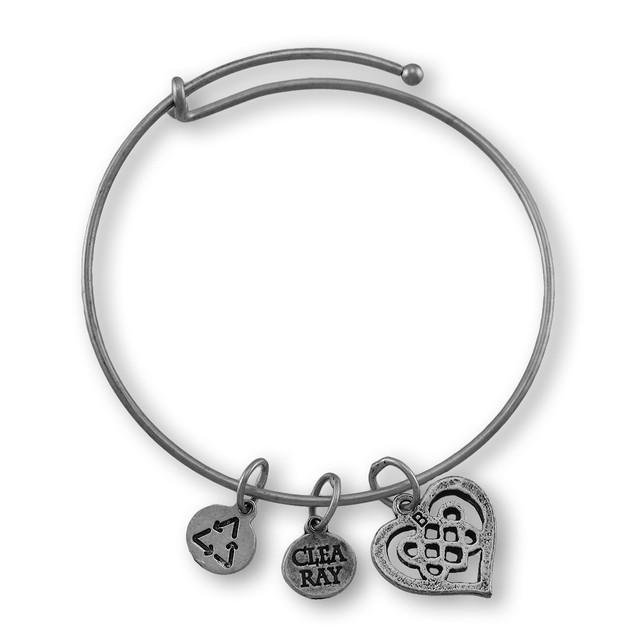 Celtic Heart Silver Plated Expandable Charm Womens Clasps Bracelets