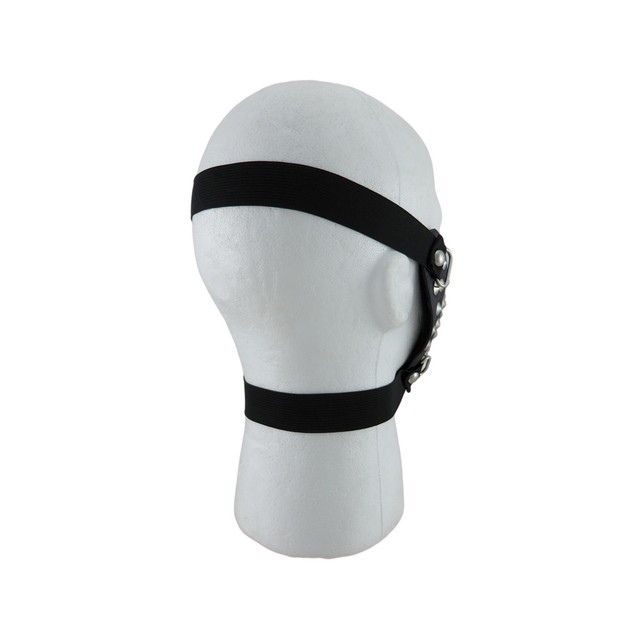 Black Vinyl Conical Studded Half Face Mask Powersports Protective Face