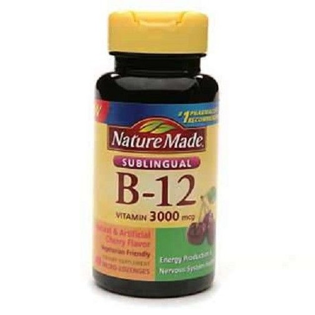 Nature Made Vitamin B-12 3000 MCG Sublingual 40 Count Bottle