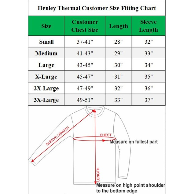 Mens Waffle-Knit Thermal Henley Tees