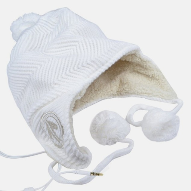 Aerial7 Stereo Headphone Beanie - Toastie White