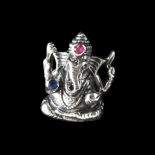 Sterling Silver 3D Hindu God Ganesh Pendant Deity Womens Pendants