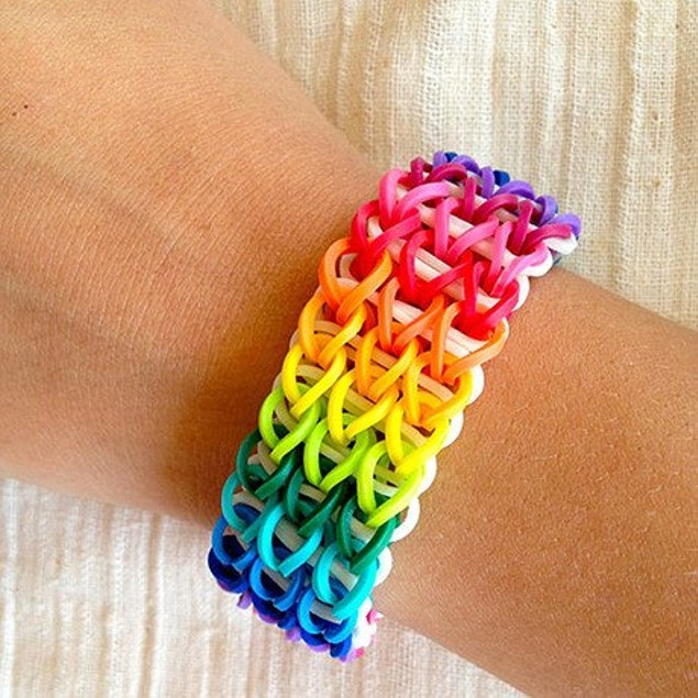 Colorful Loom Rubber Bands with Clips & Tool for Kids