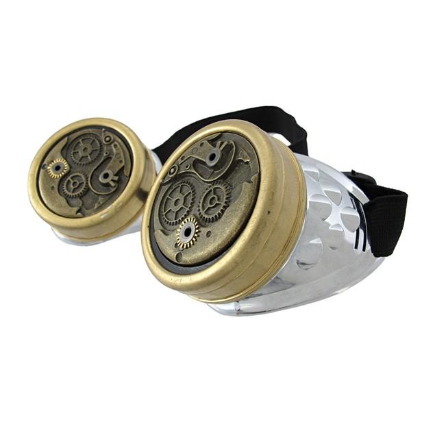 Steampunk Watch Gears Decorative Goggles Cyberpunk Mens Costume Headwear