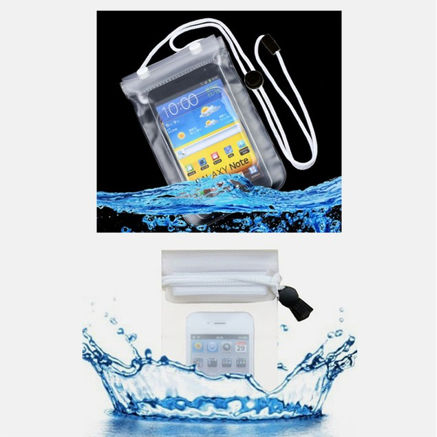 2-Pack: Tablet and Smarthone Waterproof Pouches