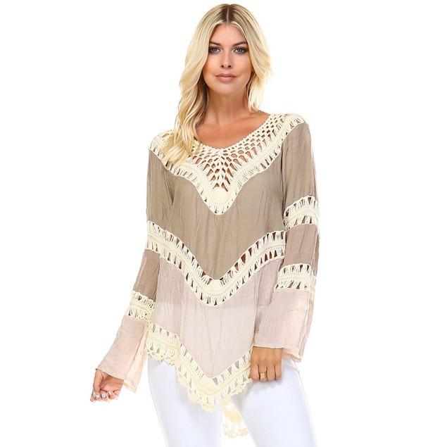 Boho Hollowed Out Crochet Top - 4 Colors