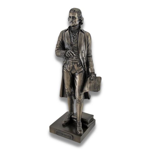 Bronzed Thomas Jefferson Declaration Of Statues