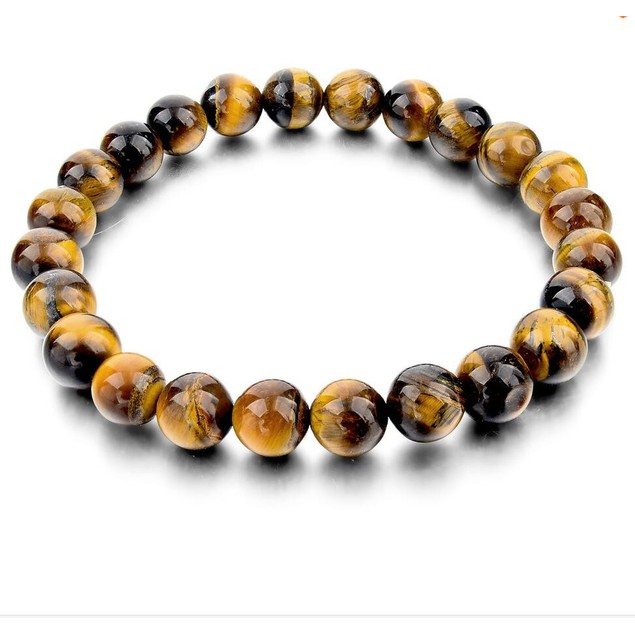 Tiger Eye Beads Elastic Bracelet