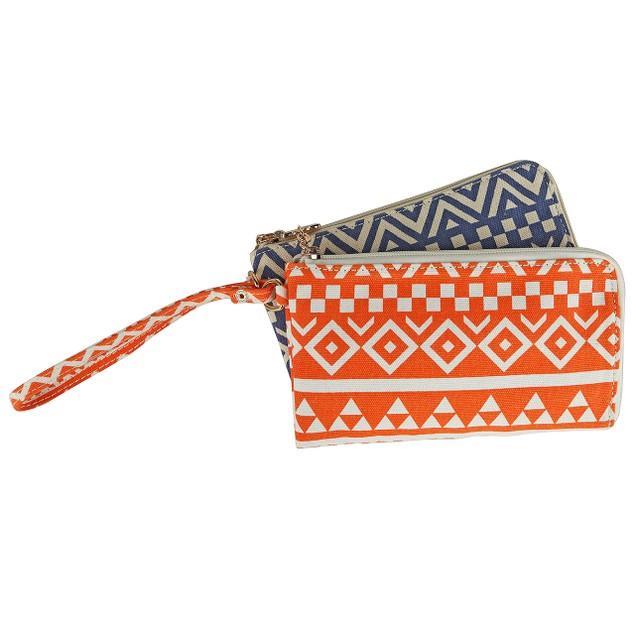 Tropical Breeze Double Wallet Wristlet