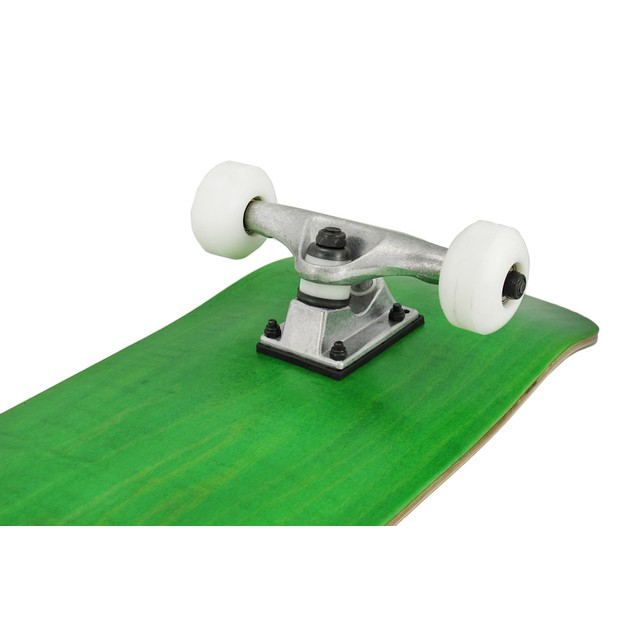 Canadian Maple Skateboard Green Stain White Wheels Standard Skateboards