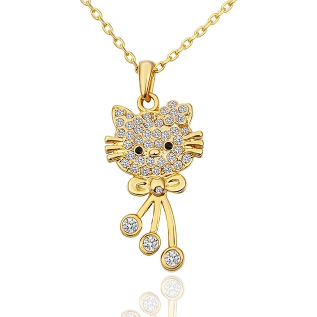 Gold Plated Kitty Necklace