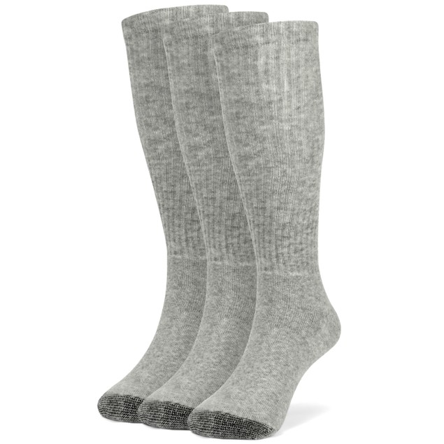 Galiva Boys' Cotton Extra Soft Over the Calf Cushion Socks - 3 Pairs