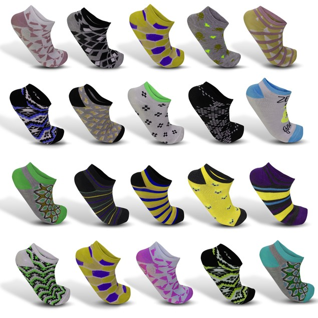 24-Pairs Mystery Deal: Women's Funky Fashion Ankle Socks