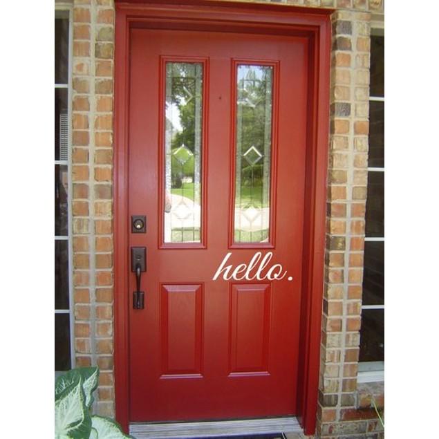 Hello Door Decal 2