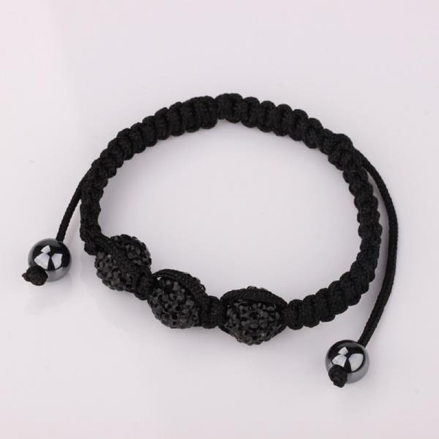 Austrian Crystal Style Bracelet -Black