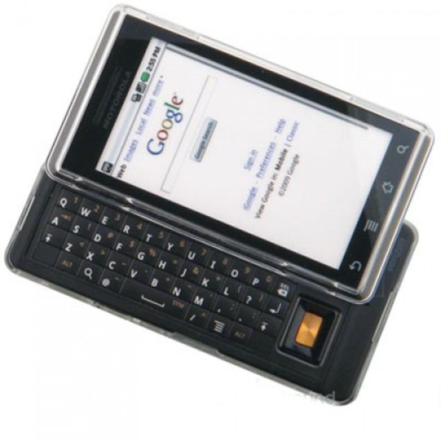 Motorola Droid A855 Hard Transparent Crystal Case Cover