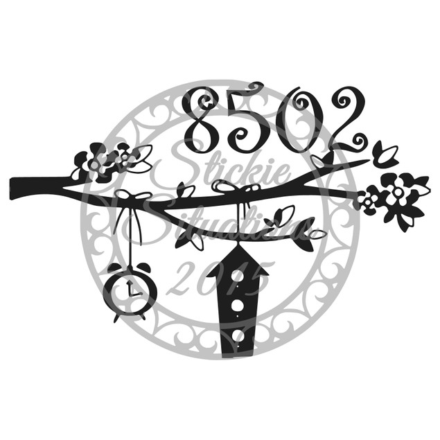 Personalized Whimsical Mailbox Decal Design 71
