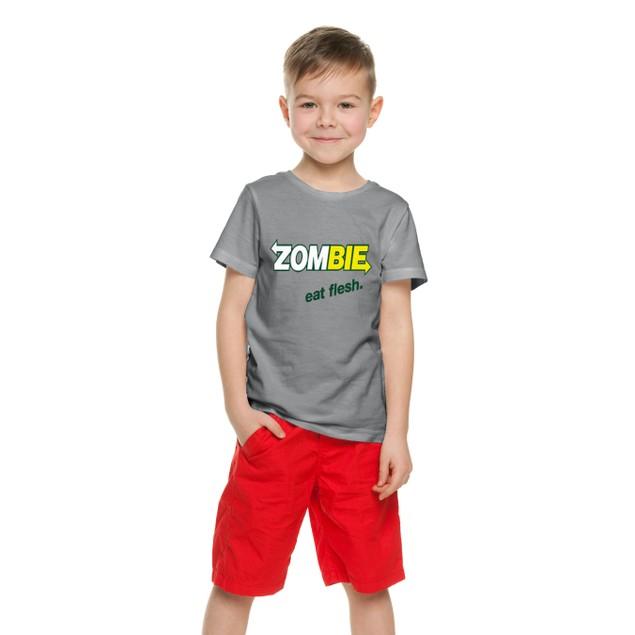 Zombie Eat Flesh - Kids T-Shirts