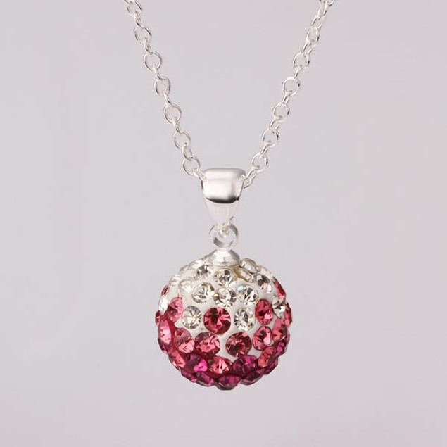 Solid Circular Shaped Necklace - Bright Pink