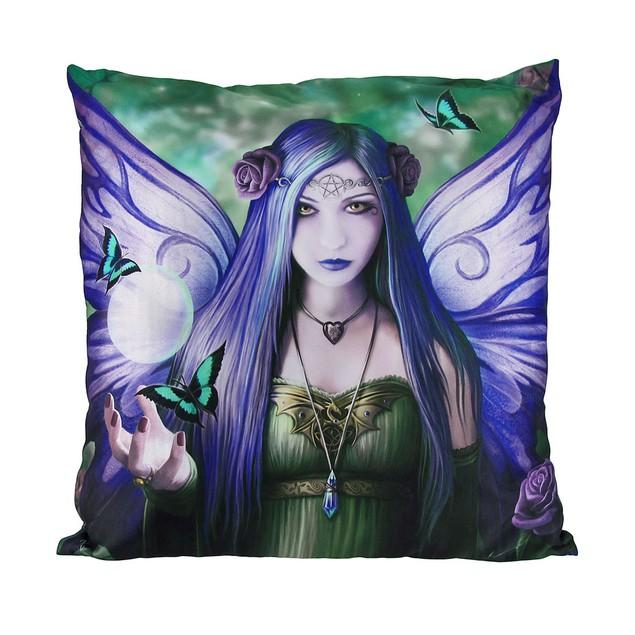 Anne Stokes Mystic Aura Fairy Satin Decorative Throw Pillows