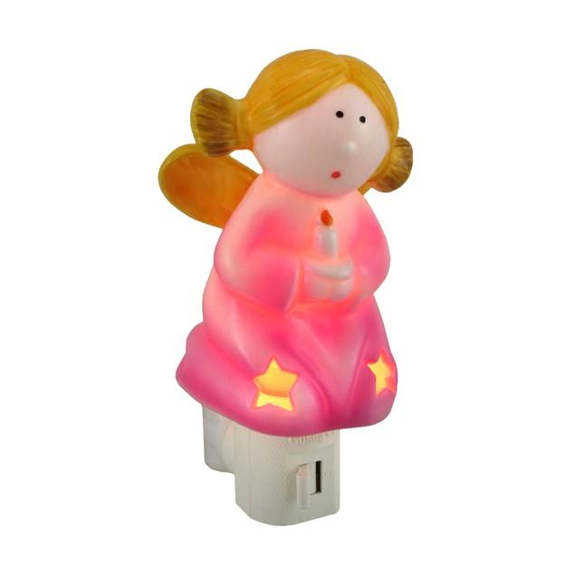 Adorable Pink Angel Shaped Porcelain Night Light Night Lights