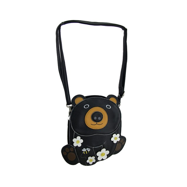 Sleepyville Critters Cuddle Bear Blossoms Womens Cross Body Bags