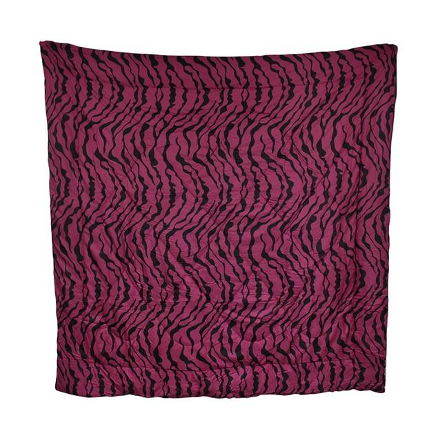 Hot Pink And Black Zebra Stripe Comforter Throw Blankets