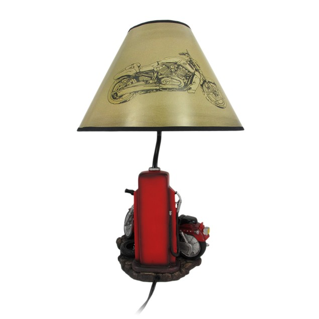Memory Lane Retro Motorcycle 19 Inch Table Lamp Table Lamps