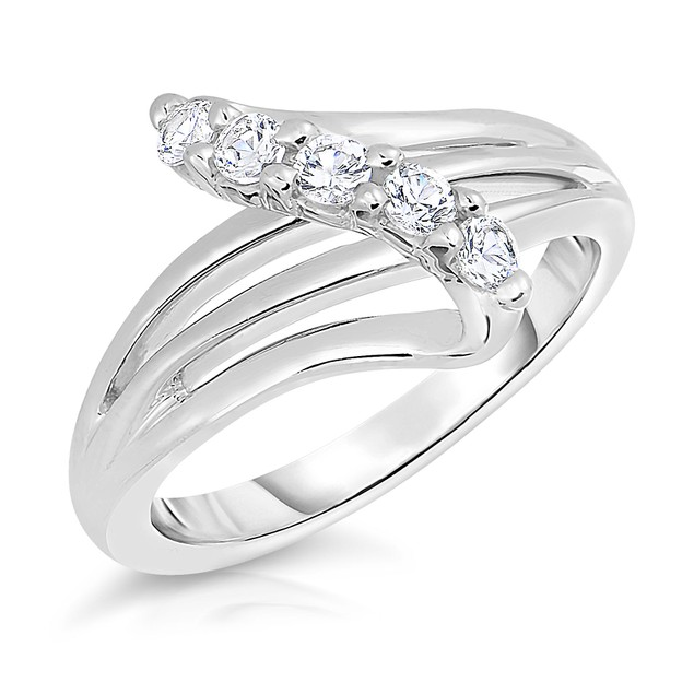Sterling Silver Five Stone Ring