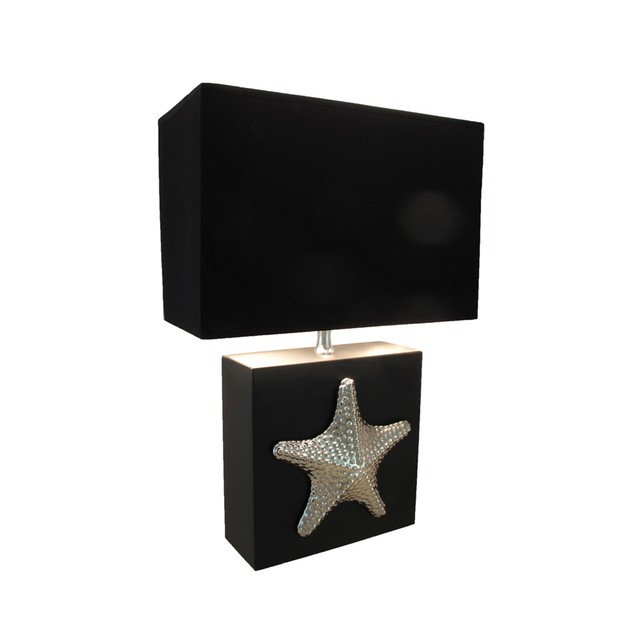 16 Inch Chrome Plated Starfish Table Lamp With Table Lamps