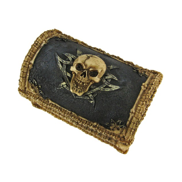 Cool Skull  Bones Ossuary Trinket Box Jewelry Decorative Boxes