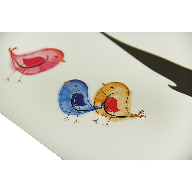 Colorful Birds In A Tree Die Cut Peel & Stick Wall Decor Stickers