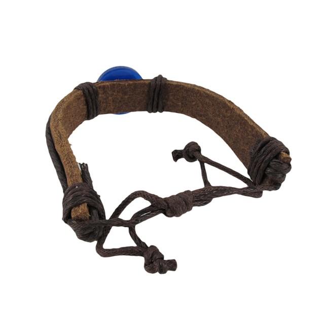 Adjustable Evil Eye Leather Bracelet Mens Leather Bracelets