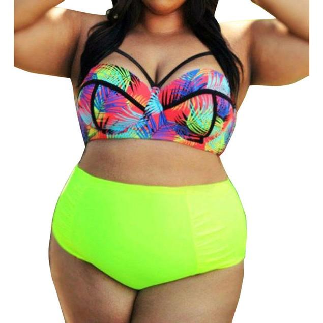 High Waist Plus Size Bikinis