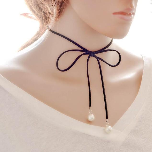 Pearl Tie Necklace