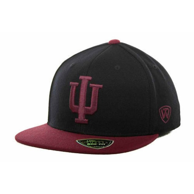 "Indiana Hoosiers NCAA TOW ""Slam"" Flat Bill Stretch Fitted Hat"