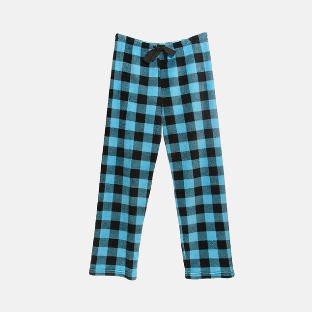 Checkered Plush Pajama Pants for Juniors
