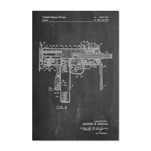 Mac-10 Uzi Patent Poster