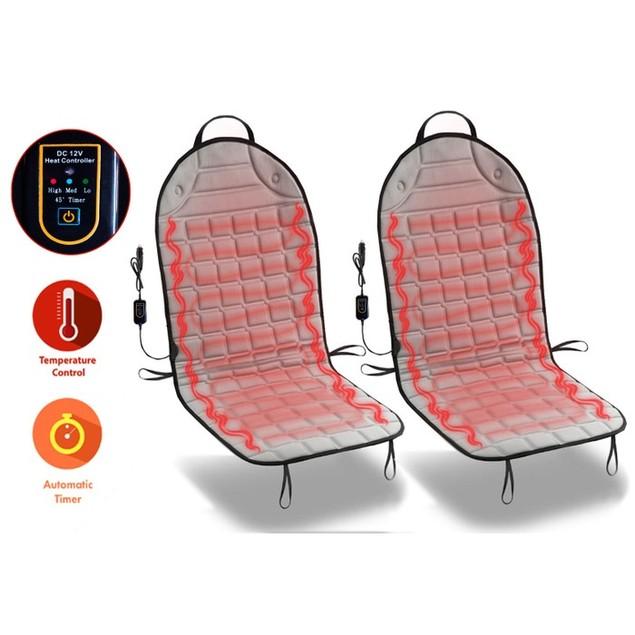 Zone Tech Heated Car Seat Heater Cushion w/ 45 Minute Auto Shutoff Timer