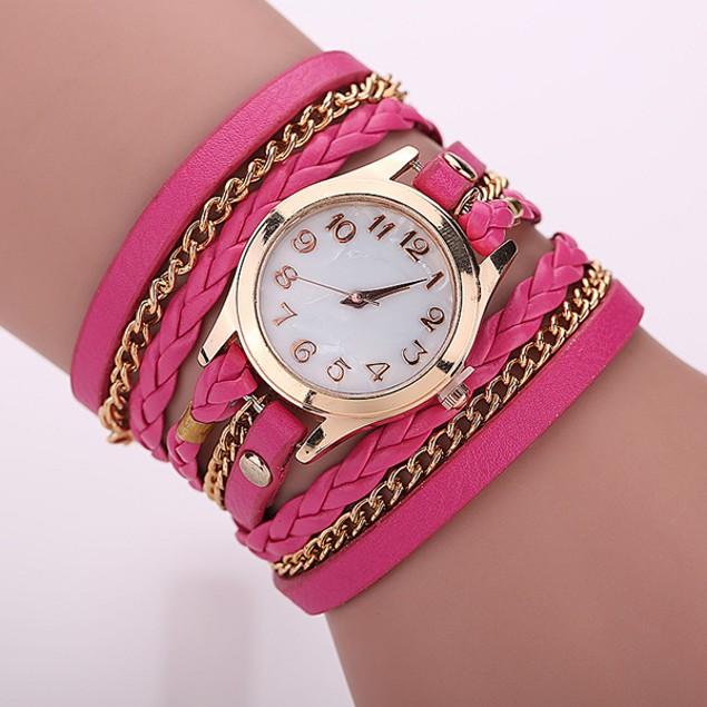 Florence Scovel- Gold Dial Quartz Watch