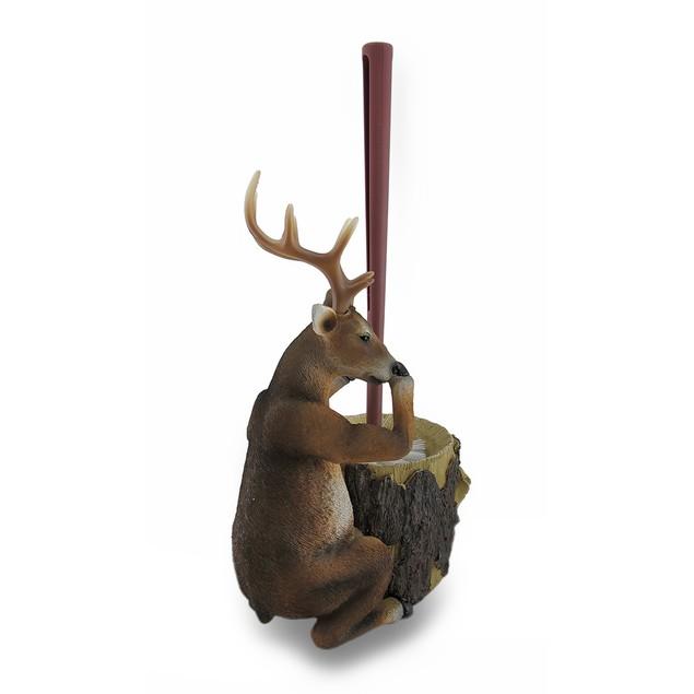 Deer Attendant Toilet Brush And Holder 2 Piece Set Toilet Brushes