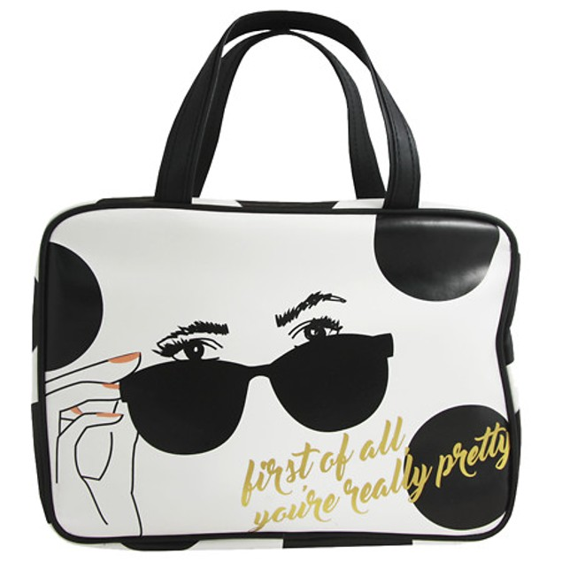 London Soho New York Fashion Cosmetic bag