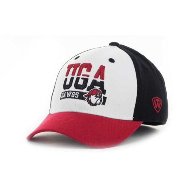 """Georgia Bulldogs NCAA TOW """"Break-Up"""" Stretch Fitted Hat"""