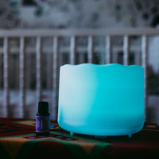 ZAQ Lotus Aroma Essential Oil Diffuser Ultrasonic Aromatherapy Humidifier